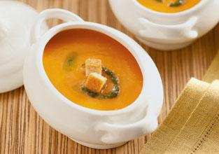 Sopa Fria de Cenoura, Tomate e Pimentão