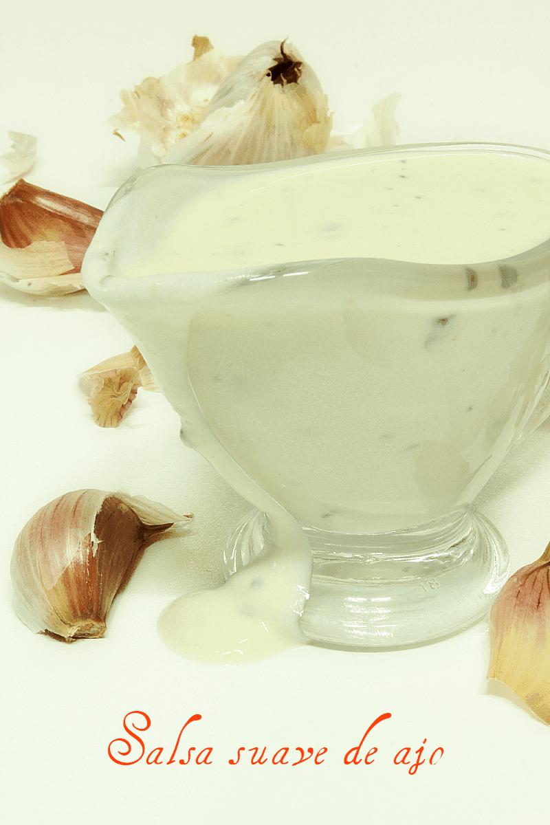Salsa suave de ajo
