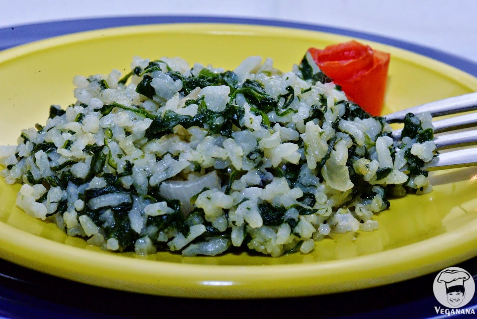 arroz refogado com verduras