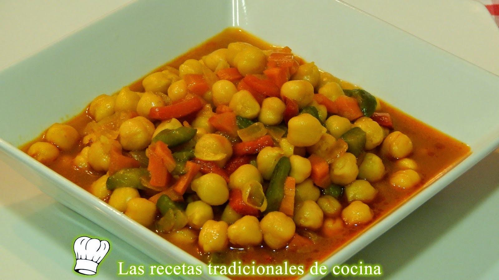 Receta de garbanzos con verduras