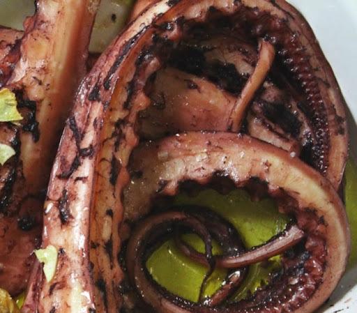 tentaculos de pota à lagareiro