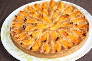 Tarte aux abricots et à la noisette