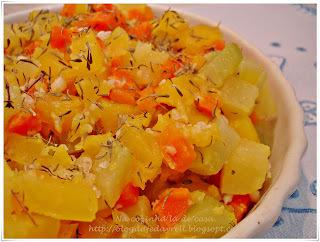 salteado de carne com legumes