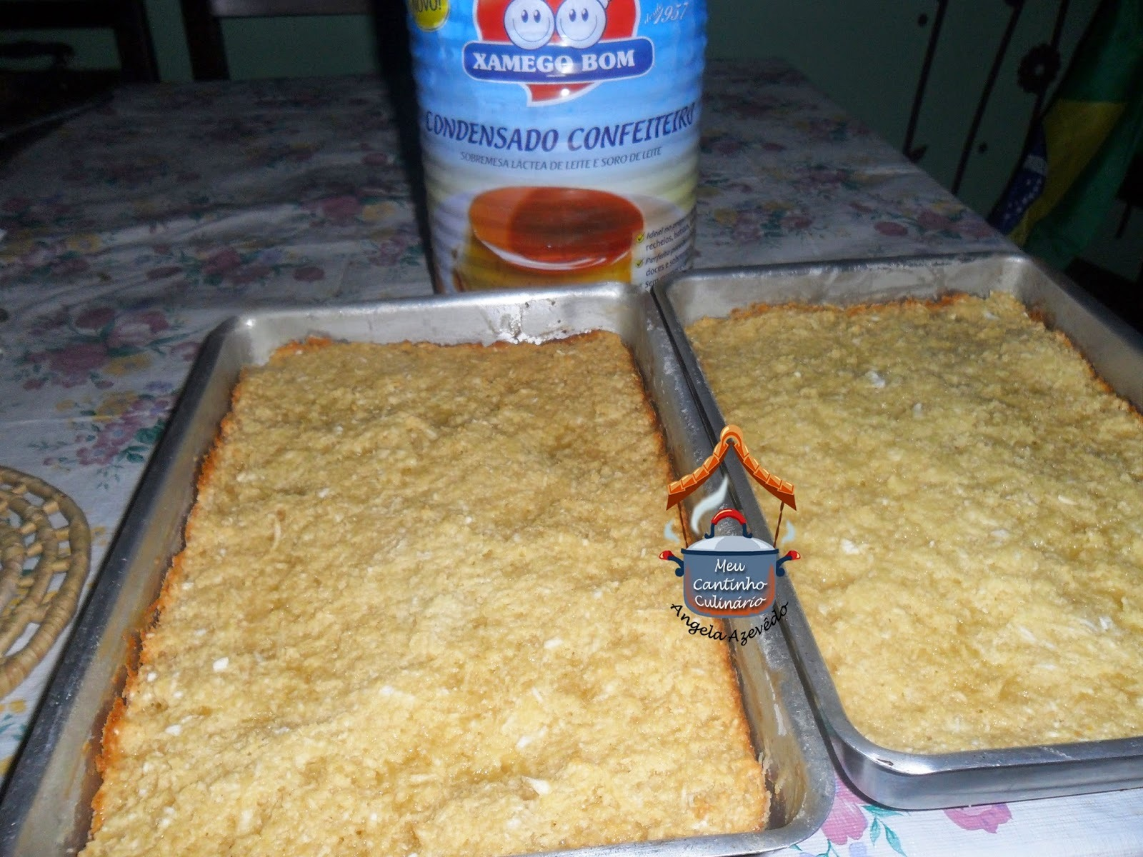 de bolo de mandioca ralada crua com goma