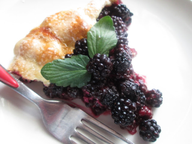 Blackberries rustic tart