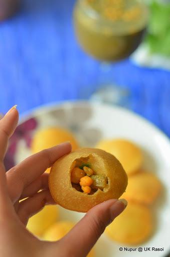 food diaries gol gappa recipies