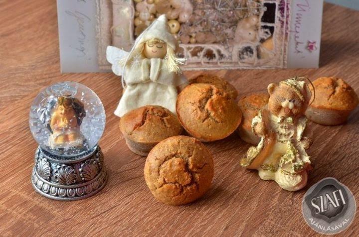 Paleo mézeskalács muffin