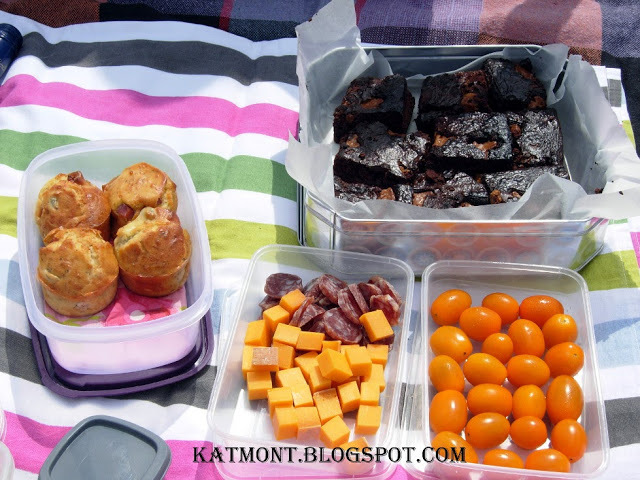 Muffins salgados para um pique nique - Muffins salés pour un pique nique