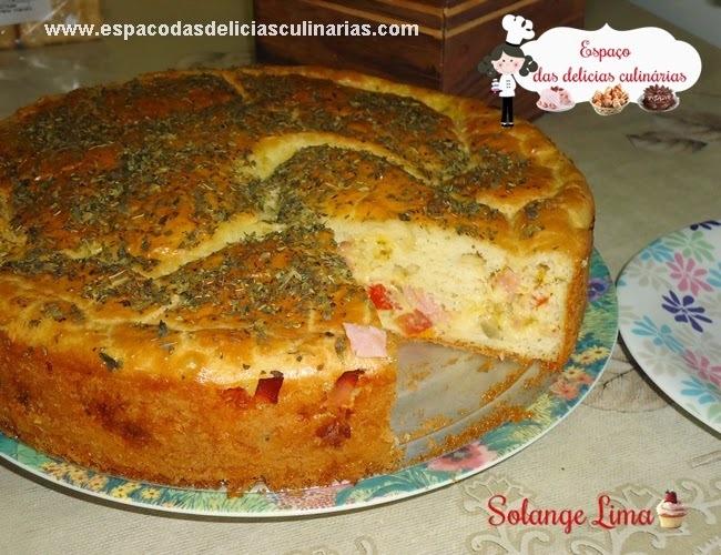 Torta bauru com palmito e ovo cozido