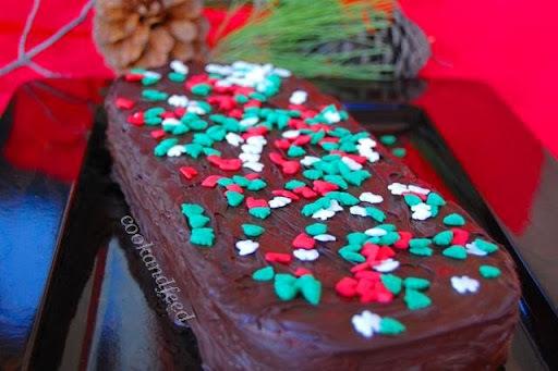 Κορμός με μπισκότα και σοκολάτα/Chocolate log with biscuits