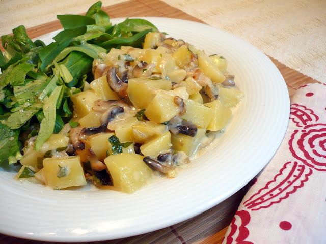tartiflette végétarienne aux champignons