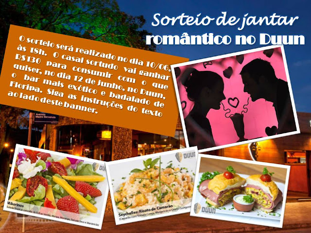 Blog Garfadas e Duun sorteiam 1 jantar romântico para os namorados