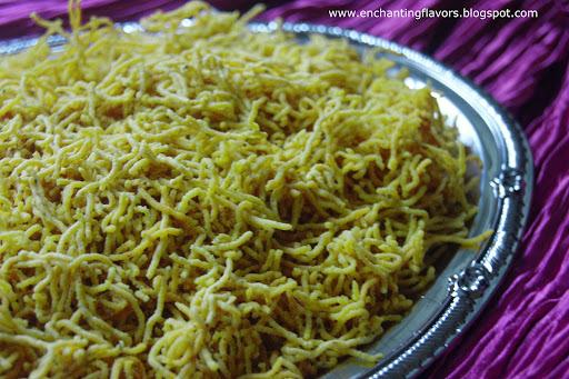 Omappodi / Sev - An Easy Snack for Diwali