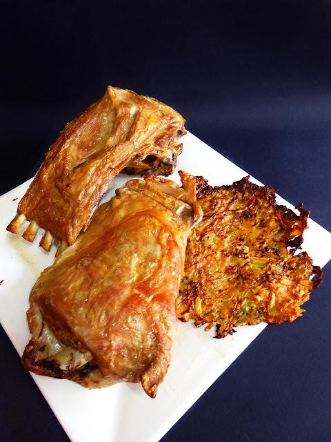 Tortitas de Patata y Boniato con Cordero
