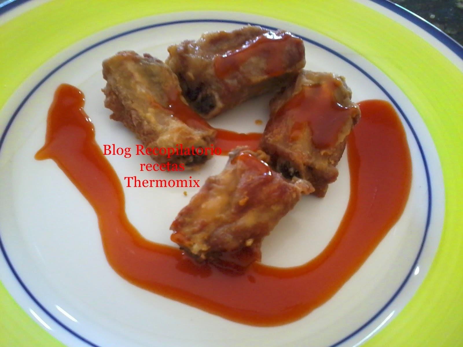 Churrasco de cerdo en salsa agridulce thermomix