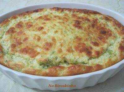 sufle de brocolis com queijo