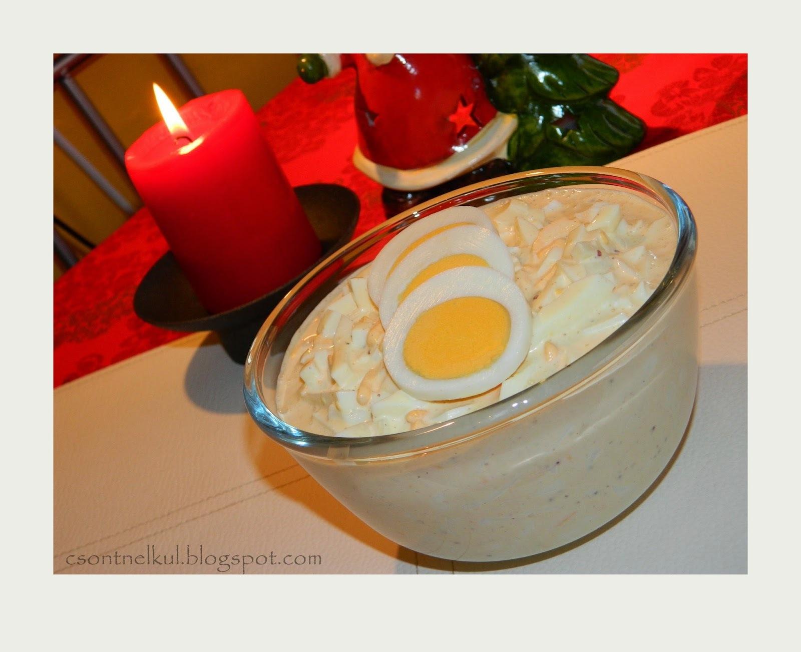 Majonézes tojássaláta