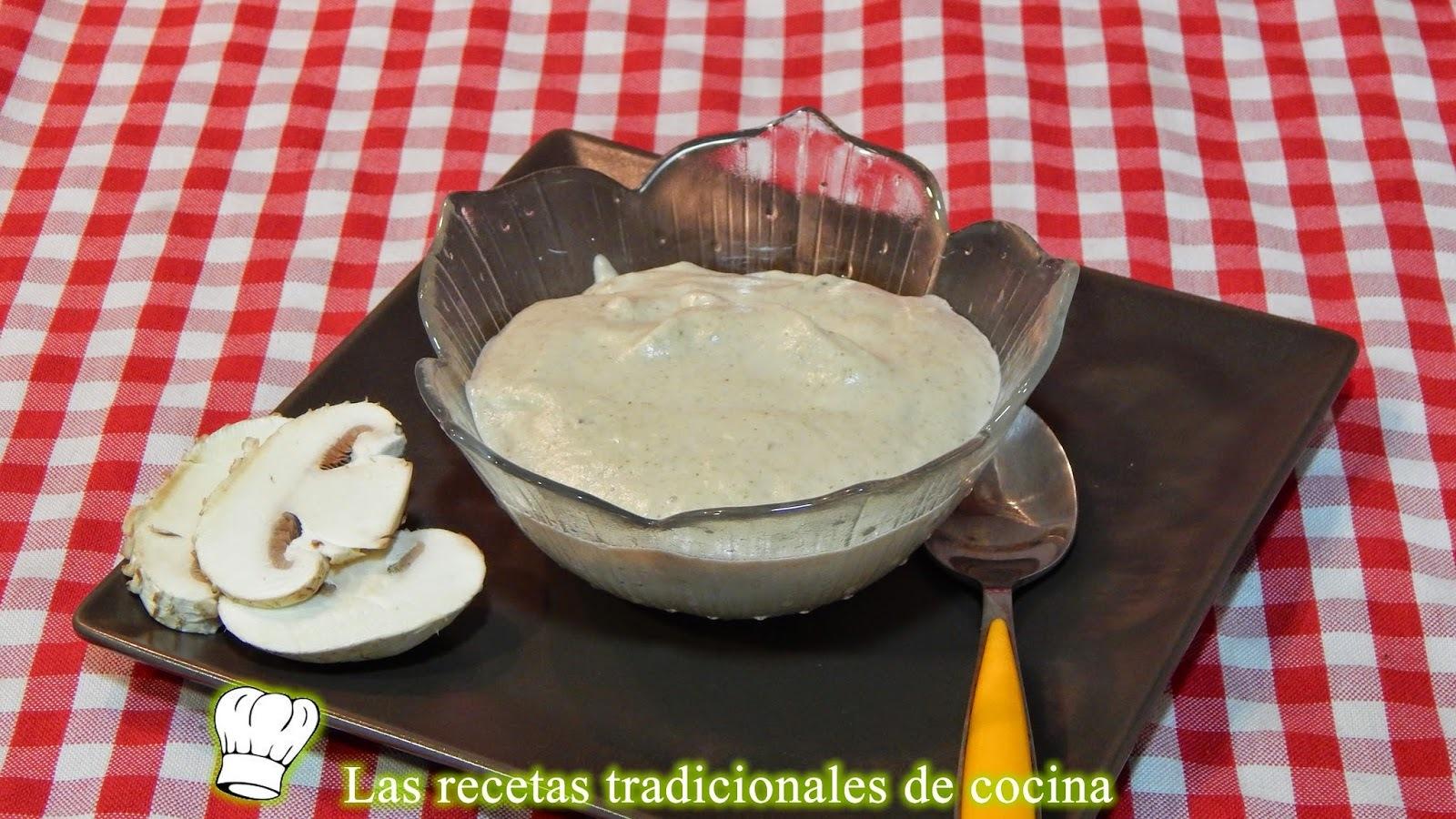 Receta de salsa de champiñones y setas