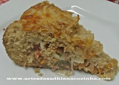 Torta de atum sem lactose e presentes