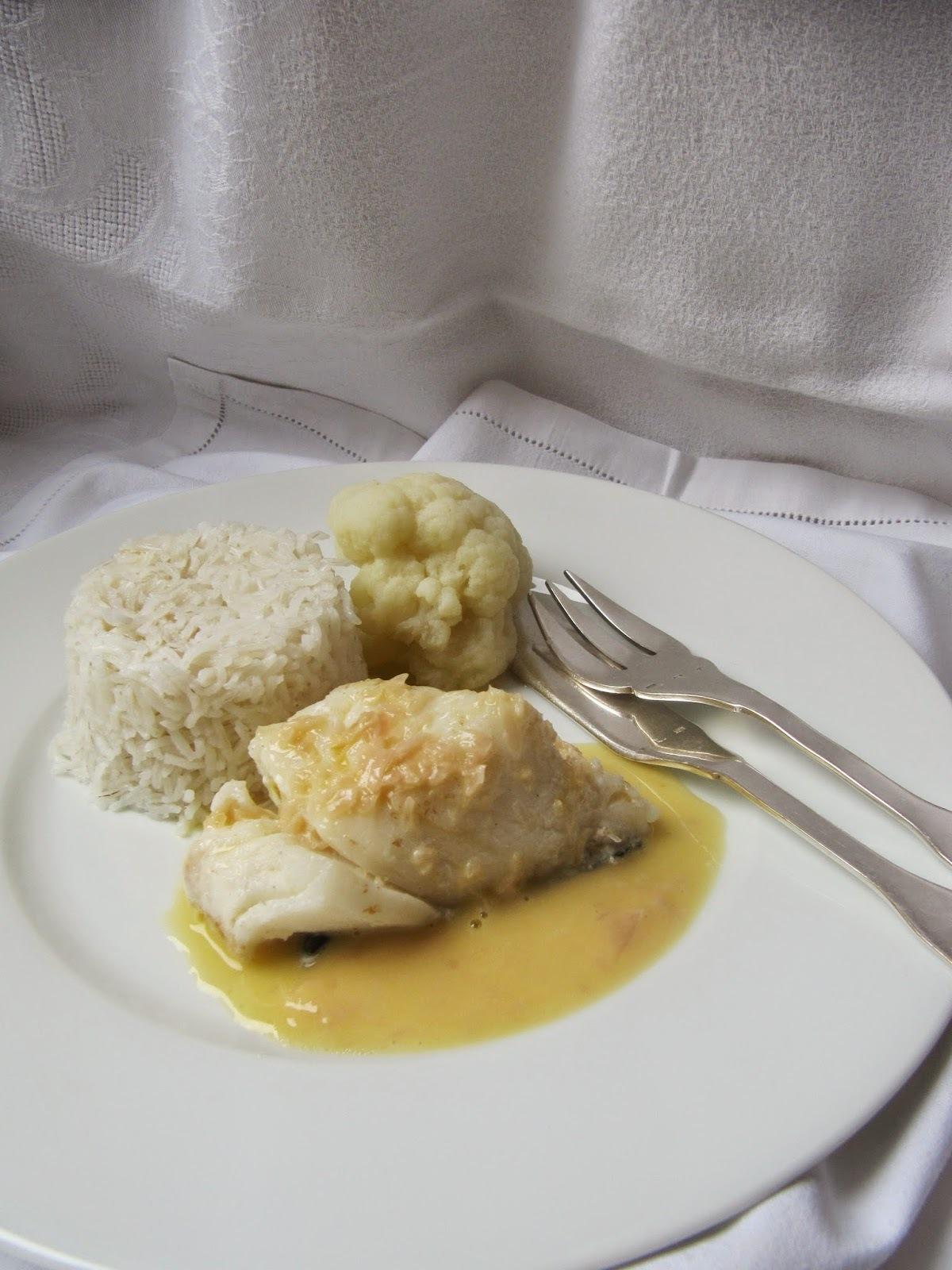 Cabillaud au beurre blanc pour un white dinner