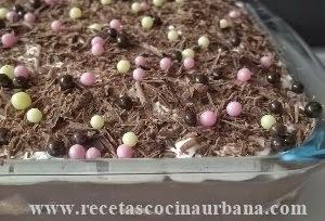 Como preparar Pavé de crema de  chocolate y marshmallow fácil
