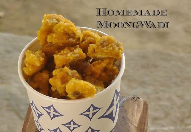 Homemade Mangodi/Moong Wadi Vegan Thursday
