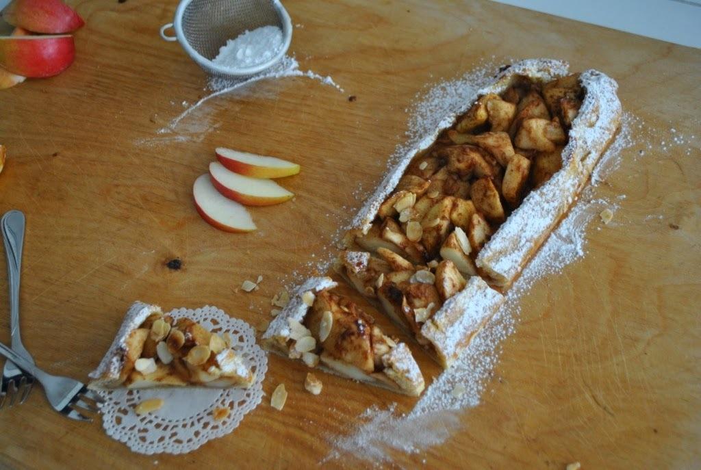 Francia almás hajtott pite