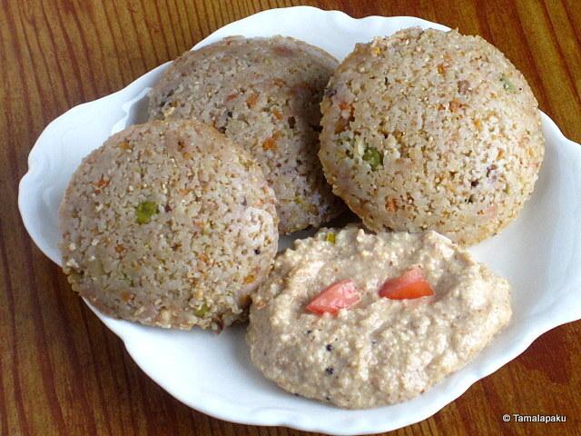 Instant Wheat Rava Idli