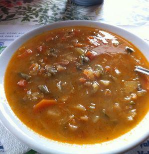 Sopa de legumes receita com macarrão