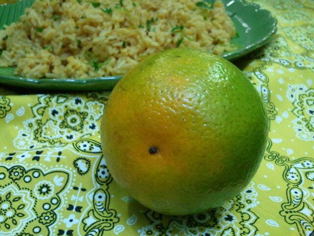Arroz de cenoura e laranja