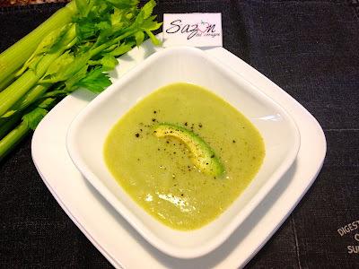 Sopa verde de verduras