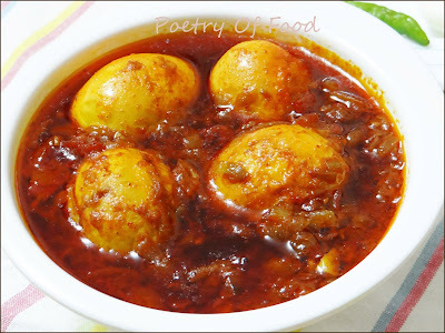 Spicy Egg Curry( Kosha Dim)...!!