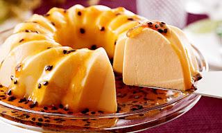 Pudim prático de gelatina de maracujá