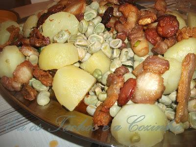 entremeada frita com batatas fritas