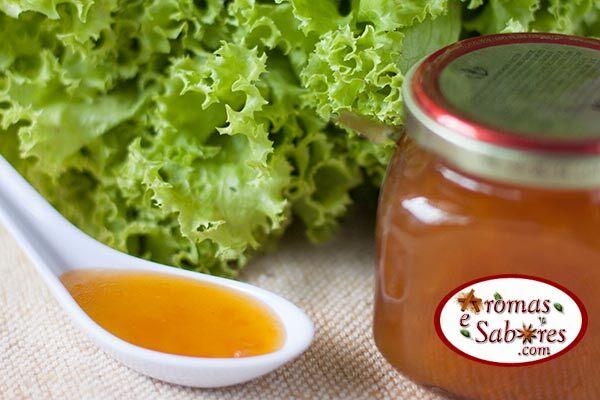 Molho vinagrete de damasco para saladas