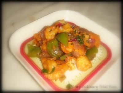 Cauliflower Pakoda Manchurian
