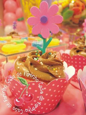 Cupcakes para uma Flor de Menina