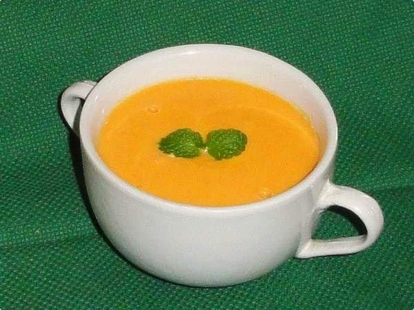 Sopa-creme de Cenoura e Abóbora