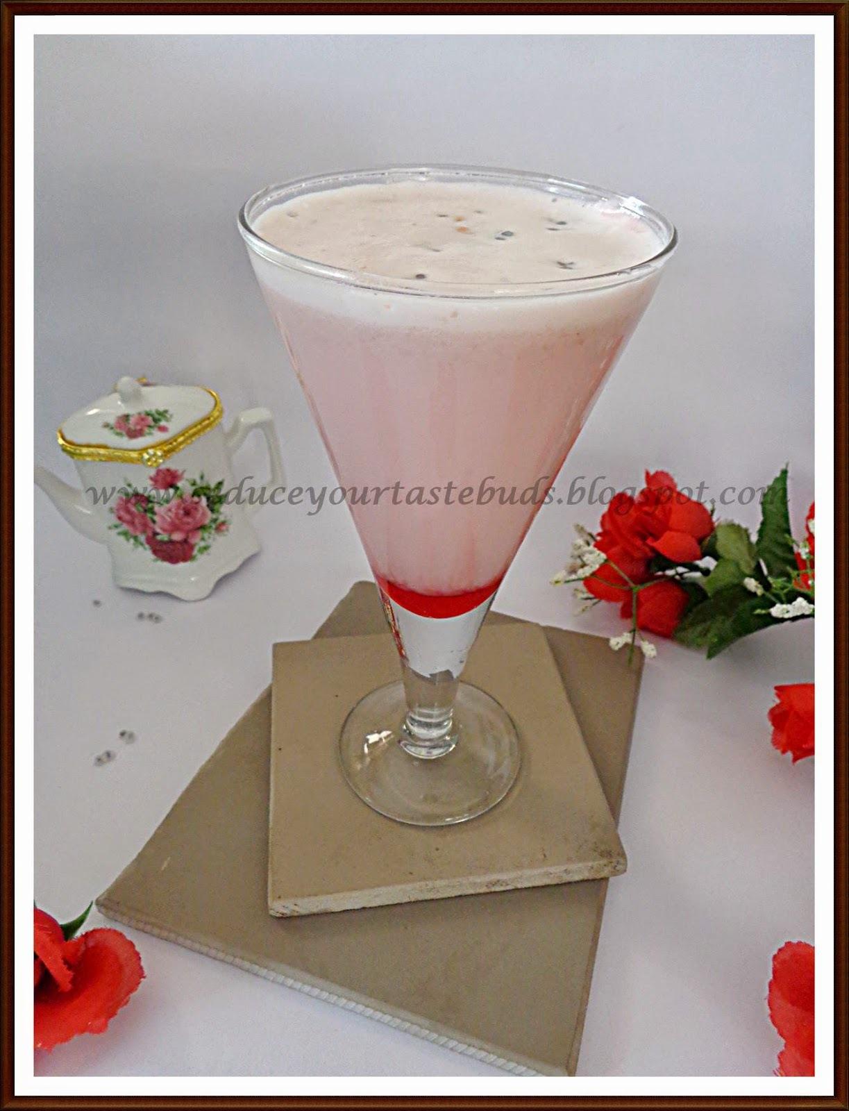 Gulkand Milkshake | Rose Preserve Milkshake