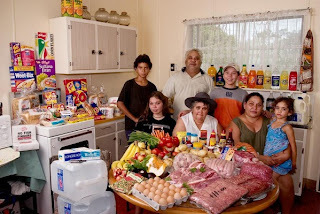 A Weeks Worth of Groceries from Kitchens Around the World