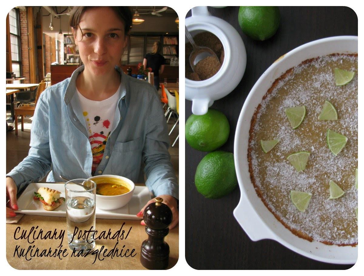 Blogorođendan - gostovanje CULINARY POSTCARDS/ KULINARSKE RAZGLEDNICE/ recept Tart od limete i kokosa...