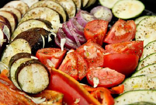 Receta de Antipasto de vegetales al horno facil