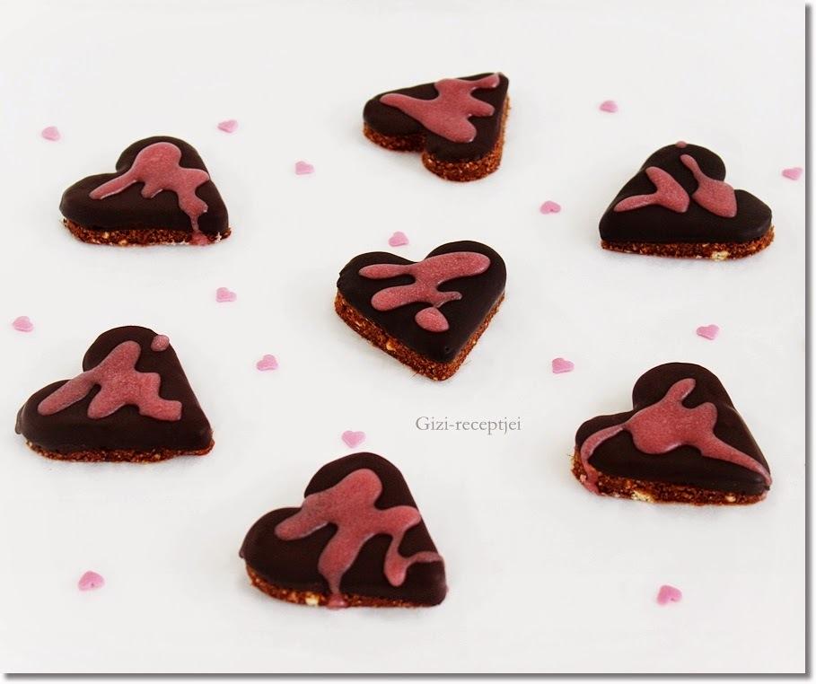 Kekszes-csokoládés szív. (Valentin napra)