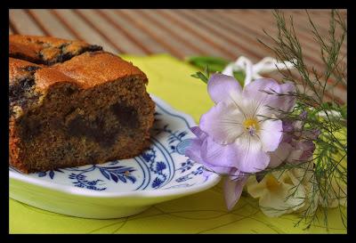 Čučoriedkový koláč bez múky
