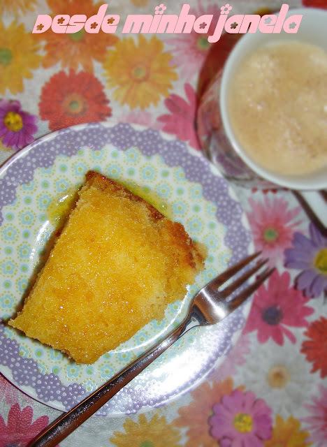 bolo de tangerina com casca de liquidificador