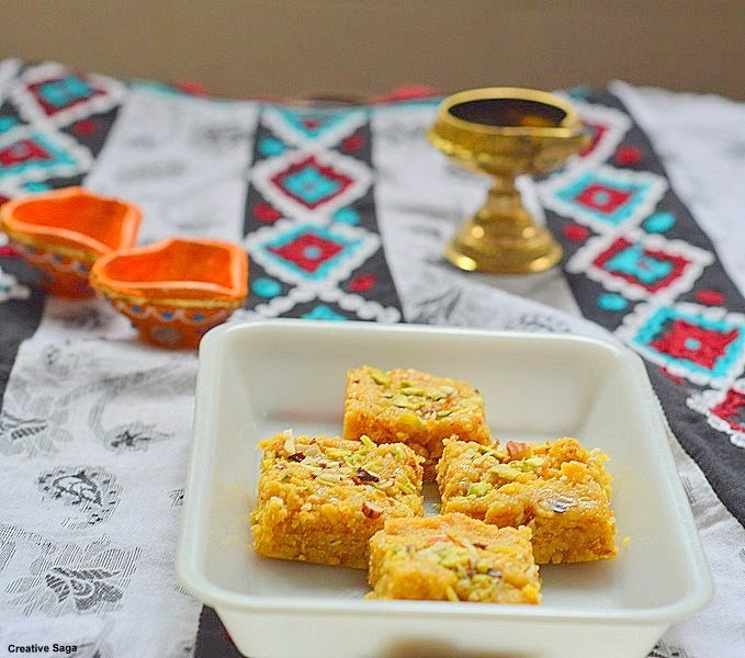 Besan Burfi - Instant mohanthal recipe- easy diwali sweet recipes