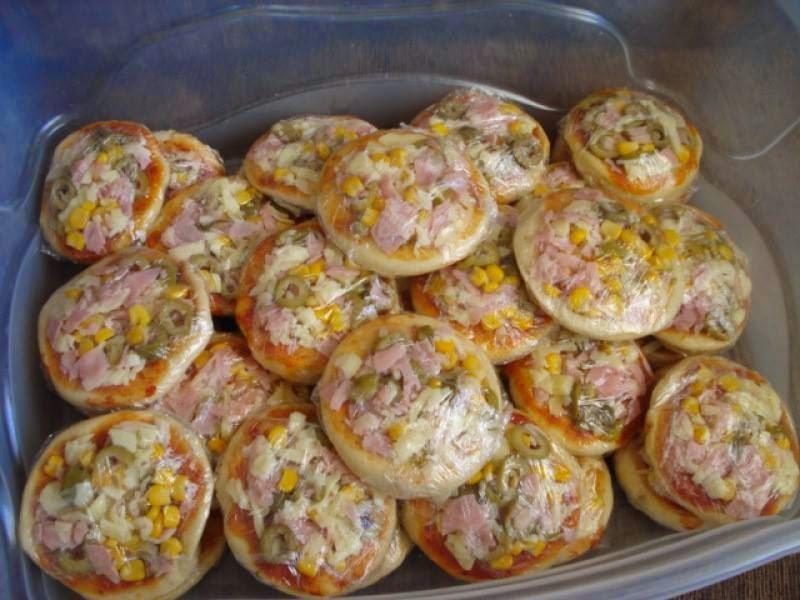 massa de mini pizza rapida