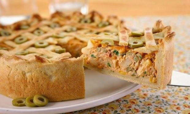 Receita de Torta Deliciosa de Palmito
