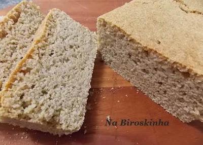 de pão de farinha de arroz e fécula de batata