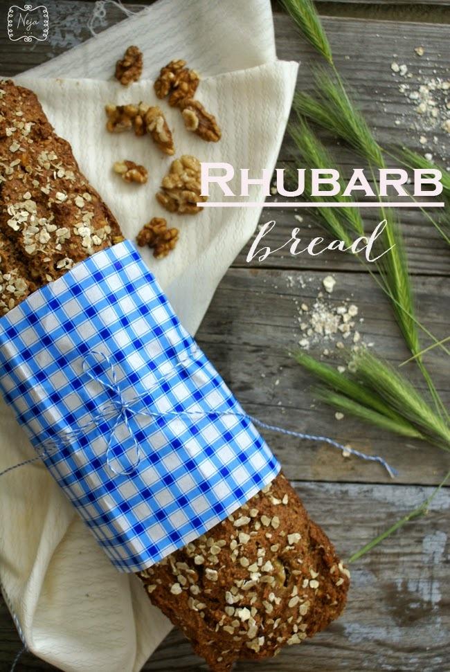 Rhubarb bread / Rabarbarin kruh